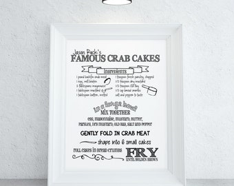 Custom Recipe Print | Recipe Keepsake | Wedding Gift | Housewarming