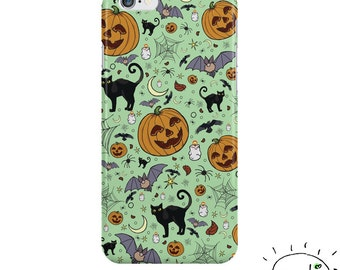 Halloween Phone Case, Halloween iPhone Case, Halloween Samsung, Cute Goth iPhone, Cute Halloween Gifts, Cute Halloween Pattern, Goth Phone