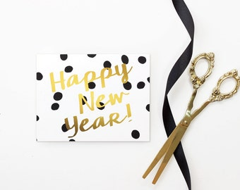 New Years Card 2017 Happy New Years Cards Personalized Black and White ...