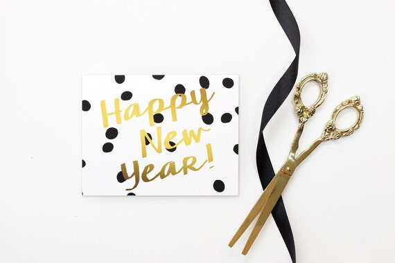 New Years Card 2018 Happy New Years Cards Personalized Black