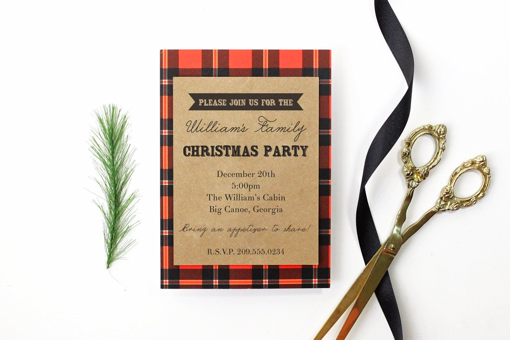 Christmas Party Invitation Family Reunion Holiday Party Invite