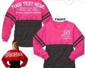 Pom Pom Jersey YOUTH or ADULT, includes front and back personalization, oversized shirt custom jersey, cheer jersey