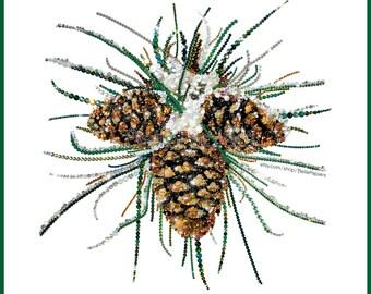 Pine Cone Decorations Winter Decor Pine Cone Wall Art