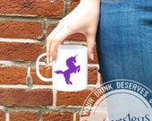 Unicorn mug, Purple Unicorn Coffee Mug, Unicorn Gift, Coffee Lover gift, Unique Mugs, Gift for Daughter, gay wedding gift, Gay couples, cute
