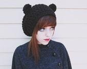 Kuma - Handmade Crochet Bear Ear Beanie