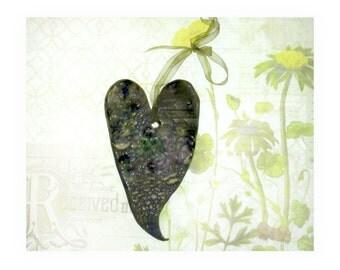 wall heart, ceramic heart, wall decor heart, hanging heart, wall art, clay heart     #4