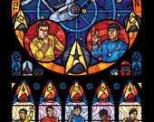 Full Size - Star Trek Original Series Stained Glass Illustration