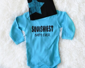 Cute Baby Boys Bodysuit Squishiest Baby Ever