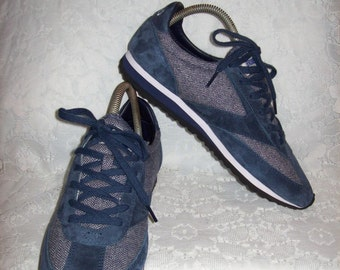 Vintage Ladies Blue & Gray Tennis Athletic Shoes by Brooks size 10 Only 14 USD