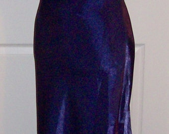 Vintage Ladies Purple Satin Evening Gown Formal Dress by Be Smart Size 7/8 Only 9 USD