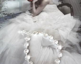 Cubic zirconia Bracelet, Brides bracelet, Tennis bracelet, High quality, Wedding bracelet, Bridal jewelry, Extender ~ Gift