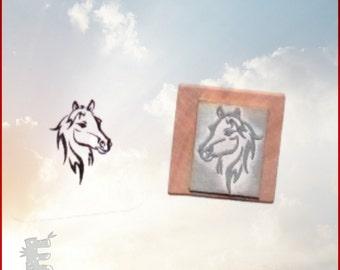 Horse Stamp - Horse Selfie Rubber Stamp  O020