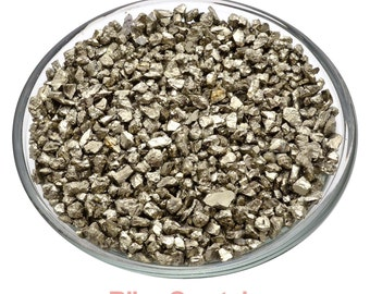 """Sparkley PYRITE """"Sand"""" Nugget Rough Mini Stone 2 oz Parcel (1-5 mm) Healing Crystal and Stone Jewelry & Crafts Prosperity Success #PS01"""