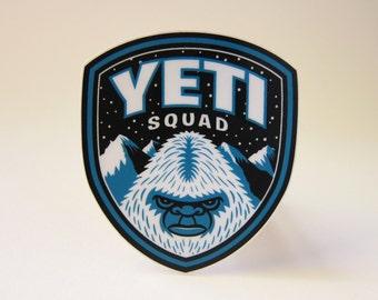 Yeti Squad Die-Cut Sticker