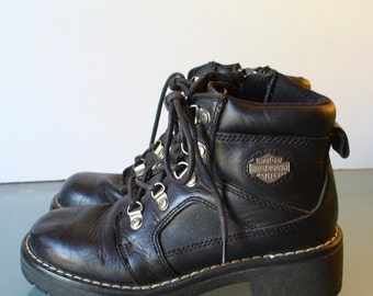 Harley Davidson Ladies Short Motorcycle Boots. Size 5.5US