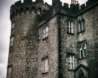 Kilkenny Castle Photo, Architecture Art, Castle Photography, Travel Art, Medieval Castle Photo, Dark Landscape, Castle Print, Irish Castle