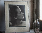 Glass Photo Frame // 1940's Photography
