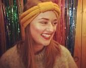 Knitted Headband, Knitted Ear Warmer, Knitted Bow, Headband