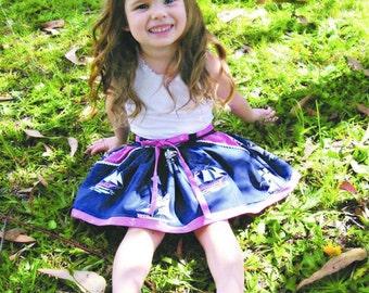 Girls PDF skirt pattern, BBs skirt, Sizes 2 - 12, instant download