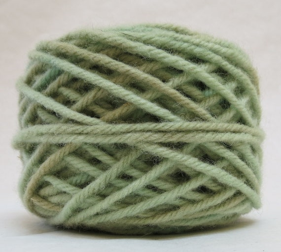 SAGE, 100% Wool, 2 Ozs. 43 yards, 4-Ply, Bulky weight or 3-ply Worsted weight , already wound into cakes, ready to use. Made to Order