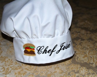 PERSONALIZED Chef's Hat, Kitchen Chef Hat, Kids Kitchen Set, Children's Kitchen Set, Children's Baking, Kitchen Clothing and Aprons