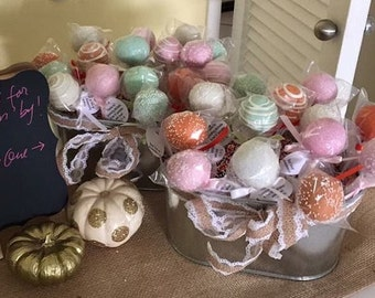 Little Pumpkin Baby Shower, Cake Pops Made to Order with High Quality Ingredients, 1 dozen
