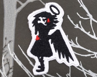 Dark Angel Embroidered Patch Applique Very Gothic Emo Punk