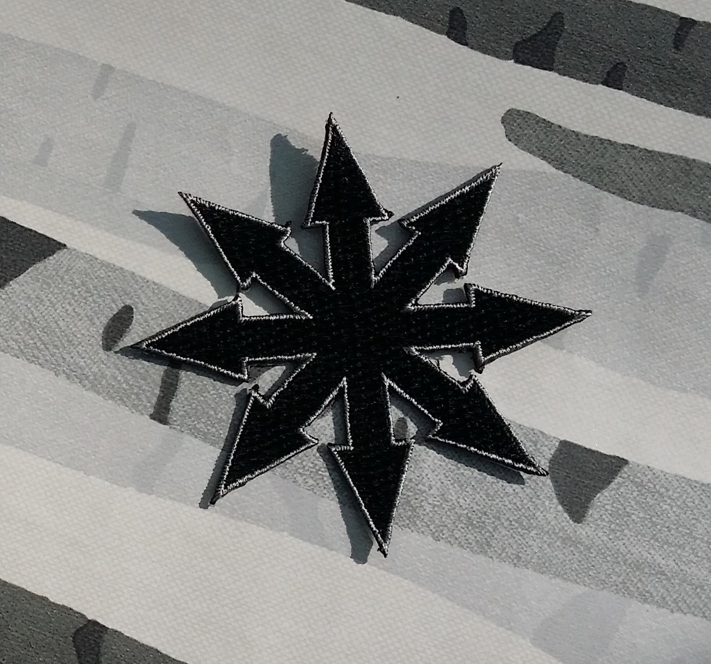 Black Chaos Symbol Embroidered Patch Applique by ...