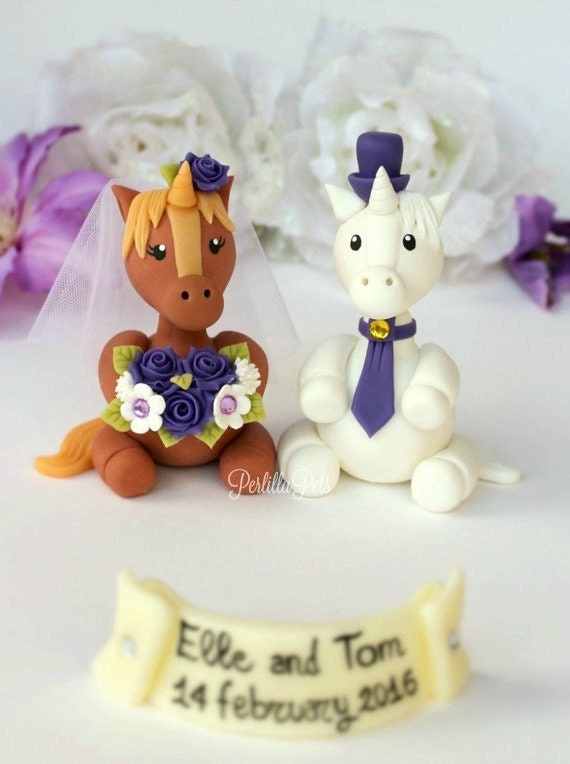 unicorn horse wedding cake topper wedding unicorn cake topper unicorns and groom 21417