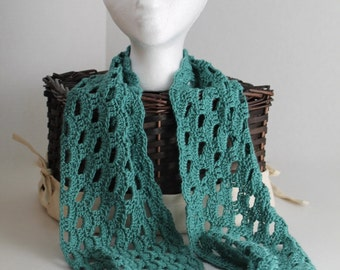 Crochet Infinity Scarf/Cowl - Teal - Bamboo