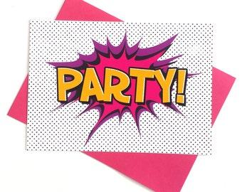 Girls Superhero Invitations, Girls Party Invitation, Superhero, Party, Childrens Party, Invitation, Superhero Party, Invite, Card, Pink