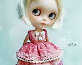 Blythe Dress RASPBERRY SUGAR With Tulle Petticoat By Odd Princess Atelier, Vintage, Hand Stitched, Special Blythe Dress