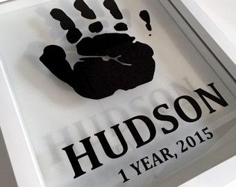 "Custom Baby Frame: Handprint or Footprint Frame (8""x10"")"
