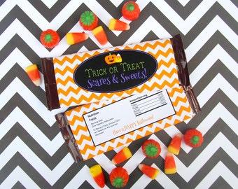 Halloween Chocolate Bar Wrapper - Halloween Candy Bar Wrapper -  Printable Wrapper - DIY Candy Wrapper - Instant Download