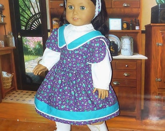 Victorian Style Dress, Blouse and Headband fits American Girl Doll Samantha