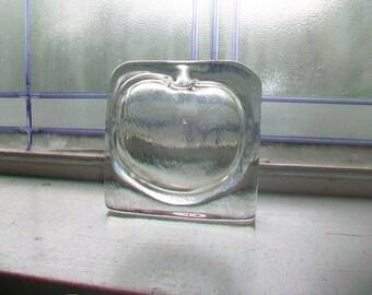 Vintage Kosta Boda Flat Square Glass Vase Mid Century Modern Sweden