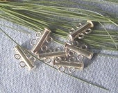 Double Strand Tube Clasp in Sterling Silver, Listing is for One Clasp, New, Never Been Used Sterling Silver Slip Apart Clasp, Jewelry Supply
