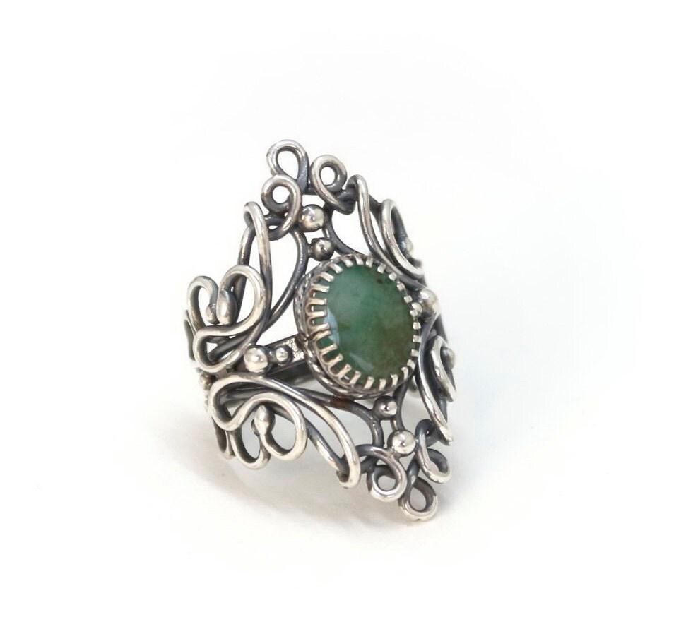 antique emerald ring emerald ring deco ring