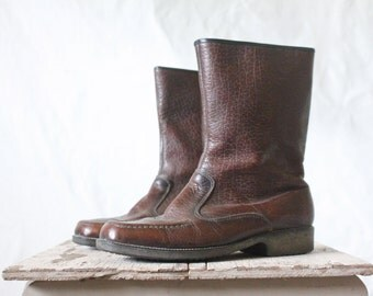 Vintage 60's Chocolate Boots