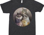 Cats On The Internet - Cat Shirt - Cat T-Shirt - Cat Painting - Cat Portrait - Lil' Bub - Funny T-Shirt - Waffles - Grumpy Cat