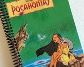 DISNEY Pocahontas Journal Notebook Spiral Bound -- Made from a loved child's storybook