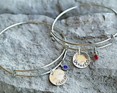 Best Friend Bracelets - Blonde and Brunette Bracelet - Sisters Bracelets - Set of TWO - Sister Christmas Gift - Best Friend Christmas Gift