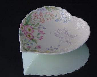 Mikasa Bone China Candy Dish Heart Shaped Plate A Special Thank You  Narumi Japan Gift