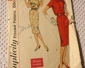 Vintage Simplicity 2681 One Piece Dress and Belt