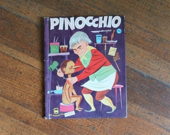Vintage Children's Book - Pinocchio (Wonder Book - 1954)