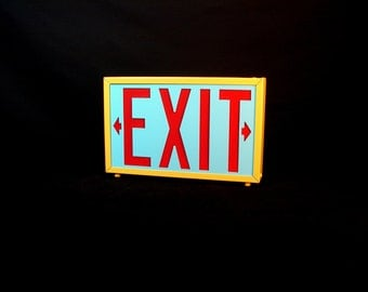 Lamp Novelty Exit Sign