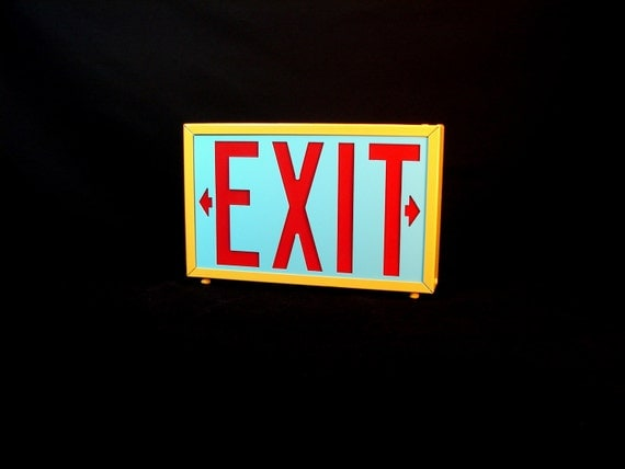 Vintage Exit Sign Light