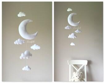 Baby mobile - cloud mobile - moon mobile