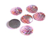 12mm Pink AB cabochon - Mermaid cabochon Fish scale cab - Dragon scale cabochon - Snake Skin cabochon (1544)
