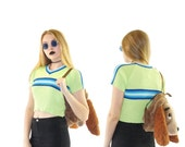 Limited Too 90s Ribbed Skater Top, 90s Grunge Crop Top, Vintage Cropped Sweater, Women's Size Small